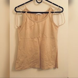 Vintage Helmut Lang strappy tank in nude